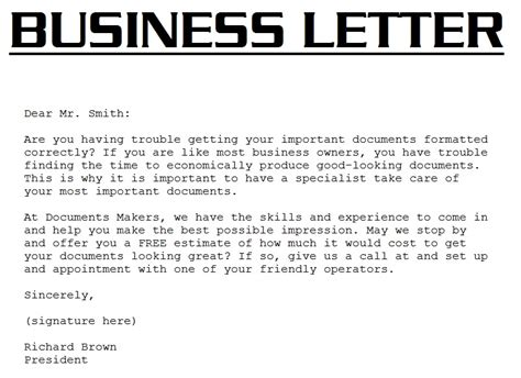 Business Letter And Their Definition Business Letter Definition Template Resume Builder