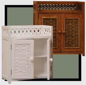 Wicker Bathroom Cabinet Wicker Wall Shelf Wicker Bathroom Cabinet