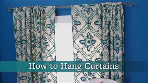 how do i hang curtains how to hang curtains youtube