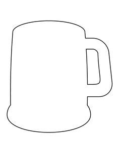 printable stencils for mugs beer bottle pattern use the printable outline for crafts