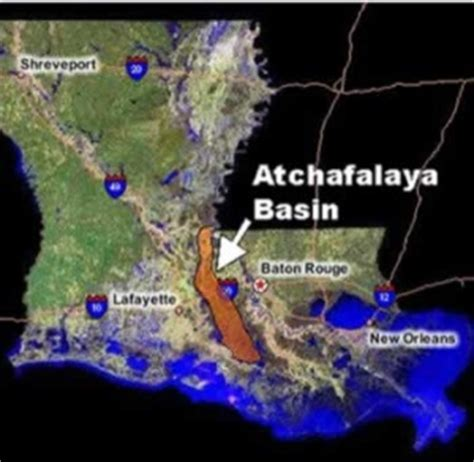 Louisiana Flood Maps the atchafalaya basin delta chapter louisiana