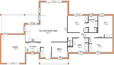 plan maison 3 chambres 1 bureau plan maison etage 4 chambres 1 bureau bricolage maison