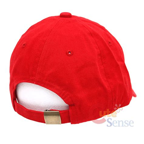 mario baseball cap adjustable hat cotton canvas