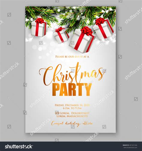 layout for christmas party merry christmas party invitation happy new stock vector