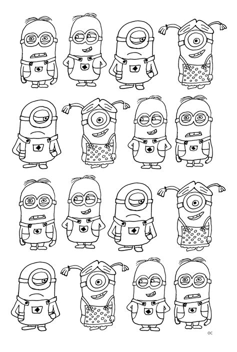 Numerous Minions Unclassifiable Coloring Pages For Unclassifiable Coloring Page