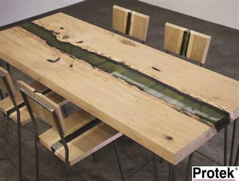 tavoli resina tavolo rettangolare in legno di rovere e resina groove