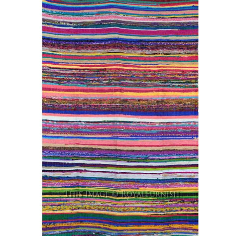 chindi rugs 3 6 quot x 6 5 quot ft multicolor recycled cotton chindi rug rug floor mat royalfurnish