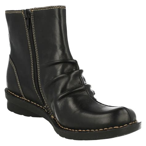 clarks flat leather ankle boots nailsea town ebay