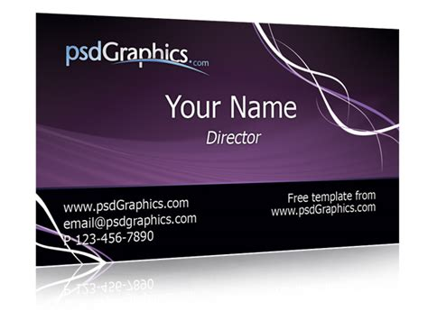 purple business card template 50 best free psd business card templates