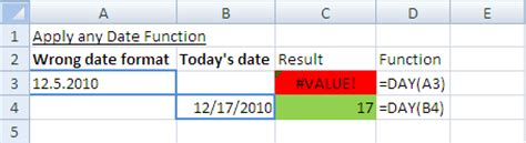 format date function excel date format not recognized excel in excel