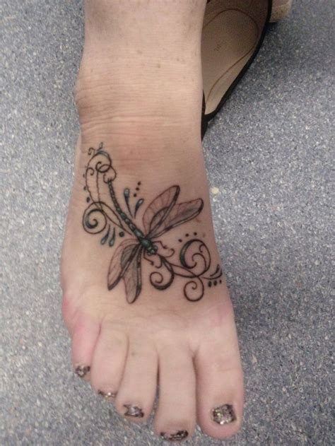 male foot tattoos foot designs for and dragonflies