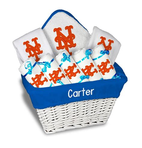 unique gifts for mets fans personalized new york mets large gift basket mlb baby gift