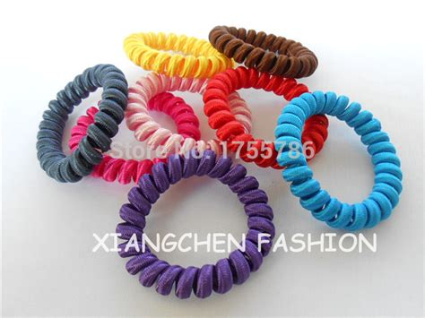 Rubber Fabric Hair Tie 5cm fabric telephone wire hair tie for hair ring