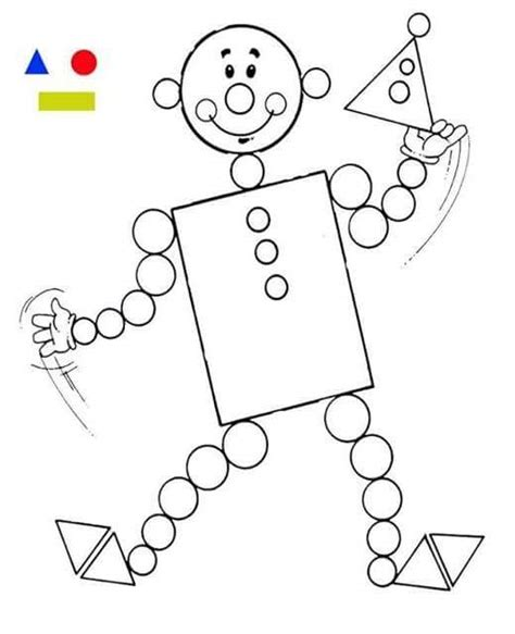 coloring coloring page objects to color by following the color numbers and clown shapes coloring page 1 171 funnycrafts