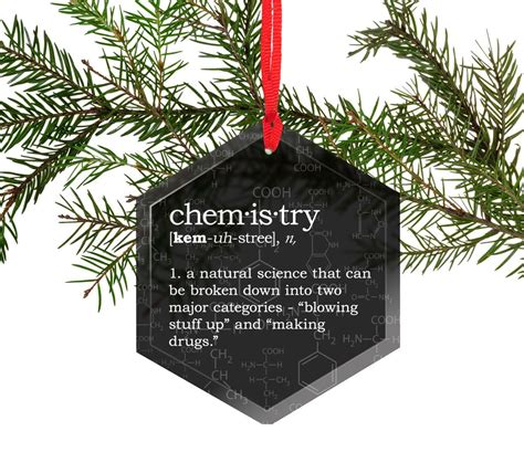 funny definition of chemistry glass christmas tree