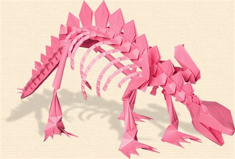 Origami Stegosaurus - joost langeveld origami page