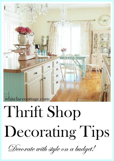 thrift store home design thrift shop decorating tips white lace cottage