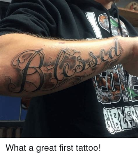 good first tattoos and meme on sizzle