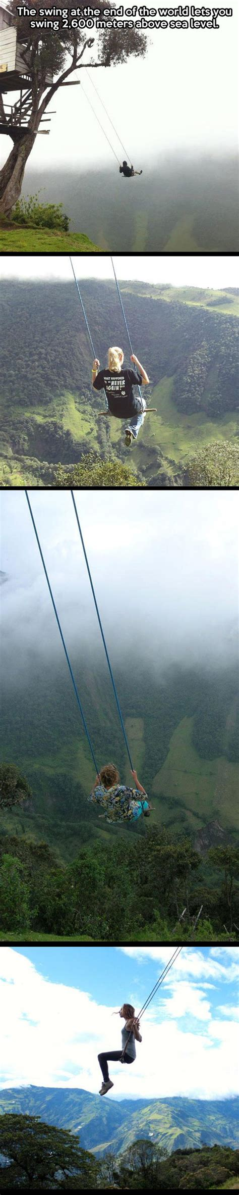 the swing at the end of the world ecuador the swing at the end of the world