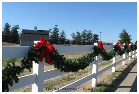 christmas decorations for fences thrifty parsonage living time in nashville part 2