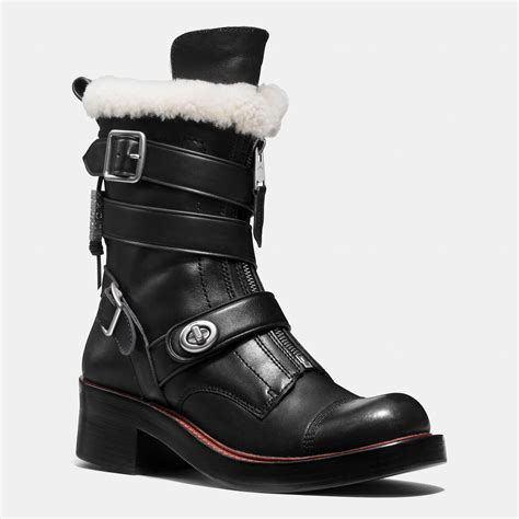 couch boots coach zip moto boot in black lyst