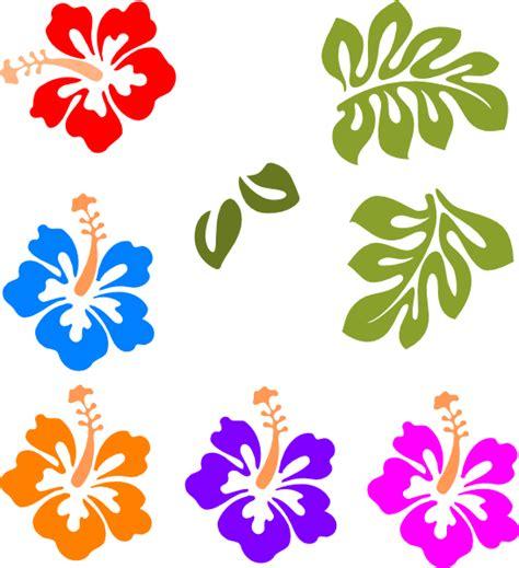 printable luau flowers luau flower clip art clipart best