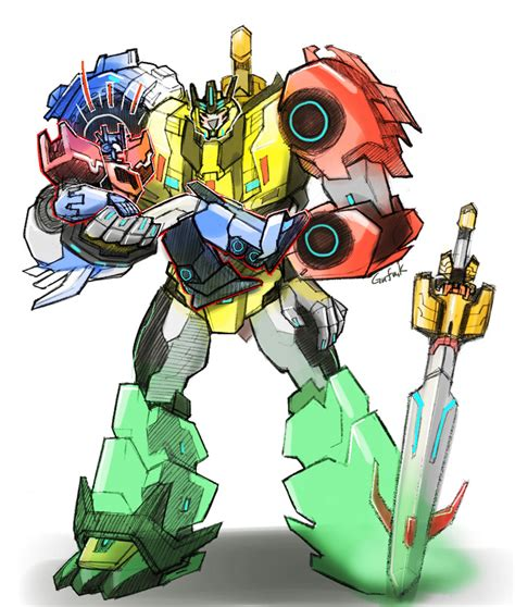 Transformers Robots In Disguise Optimus Prime Combinerforce 4 Steps rid combiner by kandagawagufu on deviantart