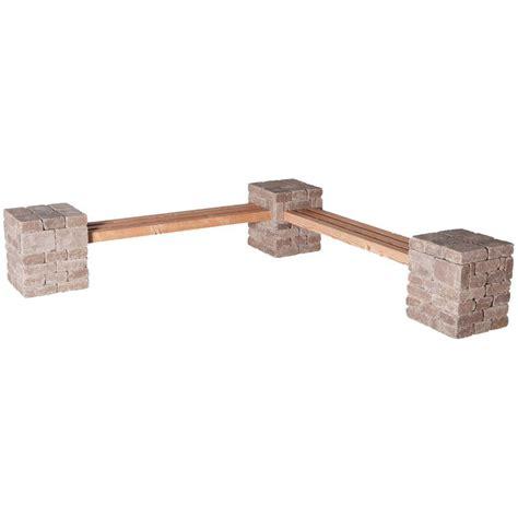 pavestone bench pavestone rumblestone rumblestone 100 in x 24 5 in x 14