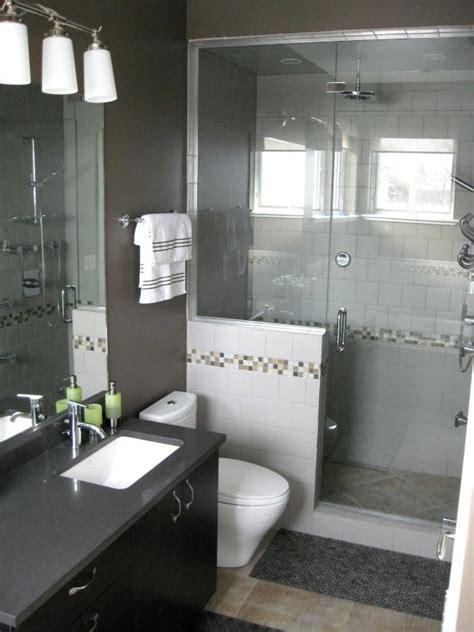 contemporary bathroom  stand  glass shower hgtv