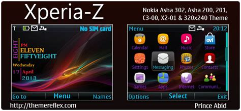 themes nokia x2 01 by princeabid xperia z theme for nokia c3 00 x2 01 asha 200 201 302
