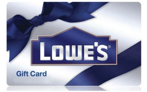 Lowes E Gift Cards - hot 100 for 115 lowes e gift card
