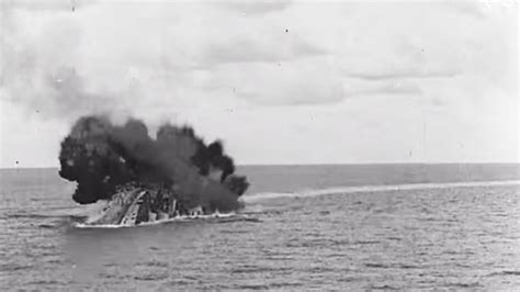 Hms Barham Sinking by Once Censored Footage Of Hms Barham Exploding Is