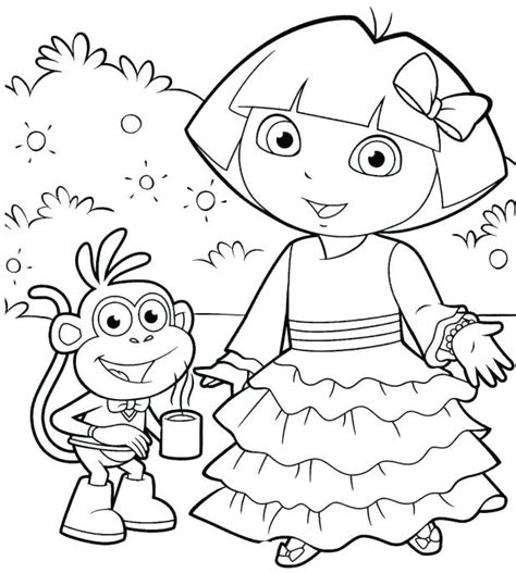 dora the explorer coloring pages nick jr nick jr halloween coloring pages funycoloring dora