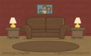 Livingroom Cartoon cartoon living room my first doggie