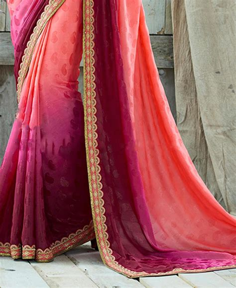peachy pink symphony of silk buy enticing peach pink silk saree aprl8580 at rm228