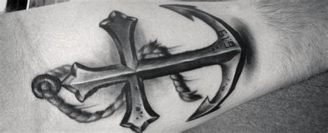 mens anchor tattoo designs 40 anchor cross designs for religious ink ideas