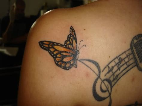 butterfly music note tattoo designs musical notes and butterfly