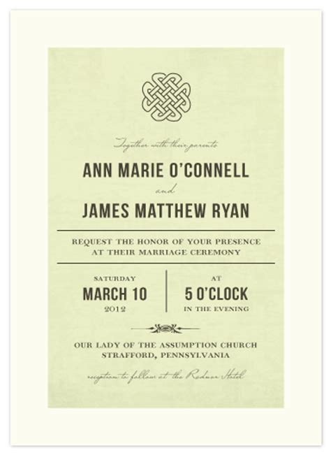 Celtic Wedding Invitations by Wedding Invitations Vintage Celtic Knot At Minted