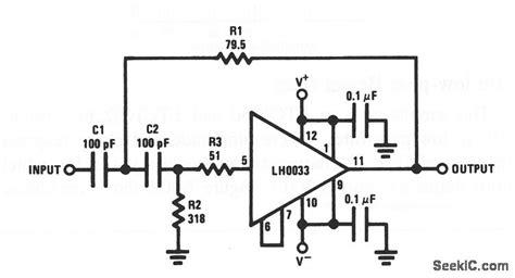 high pass filter basics wideband two pole high pass filter filter circuit basic circuit circuit diagram seekic