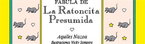 libro fabula de la ratoncita aquiles nazoa lecturas curiosas