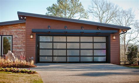 Aluminum Glass Modern Contemporary Garage Doors St View Garage Door
