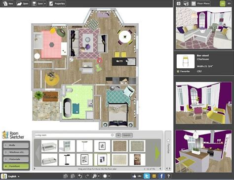 free online home designer create professional interior design drawings online