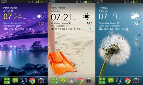 best free android weather widget best android clock and weather widgets november 2013