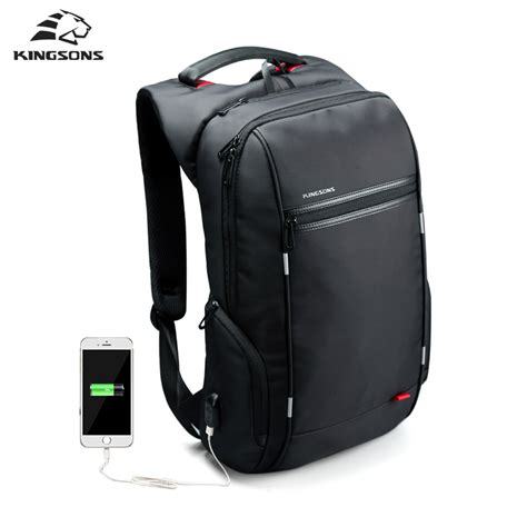 Carion Tas Anti Theft Backpack No Usb Charger Branded Ori Bandung kingsons brand external usb charge computer bag anti theft notebook backpack 15 17 inch