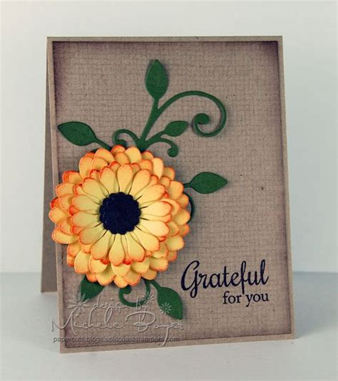 paper flower card tutorial how to make paper flowers free card making tutorial