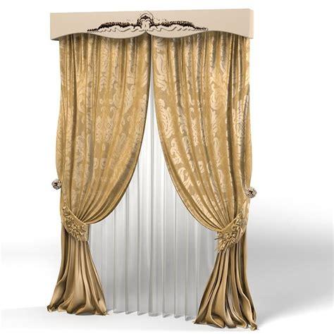 classic curtains 3dsmax curtain classic luxury