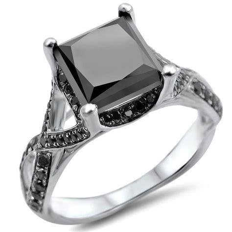 unique black diamond engagement rings  women  enhanced