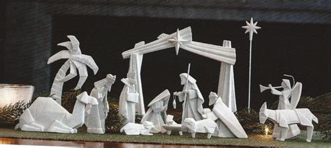 Origami Nativity Set - porcelain origami nativity 14 pcs pre order