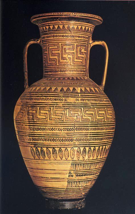 arte greca vasi medio stile geometrico arte greca
