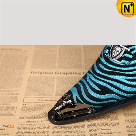mens zebra print dress shoes cw751527
